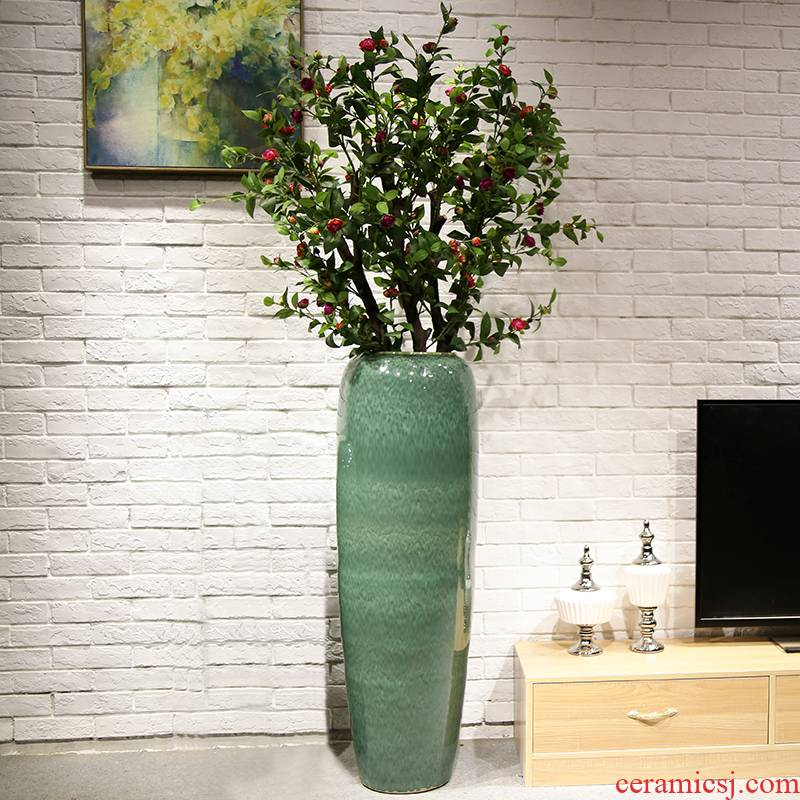 Jingdezhen ceramic vase of large sitting room, dining - room home furnishing articles furnishing articles decorations simulation artificial flowers flower arrangement