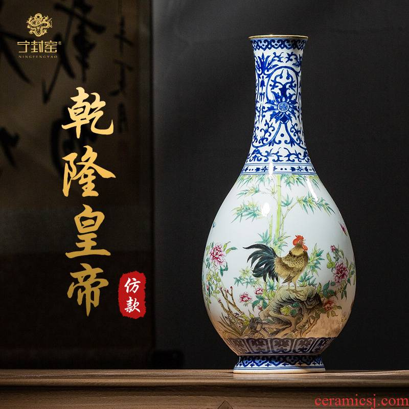 Better sealed up with jingdezhen home furnishing articles Chinese blue and white porcelain vase water bottle art antique vase household decoration