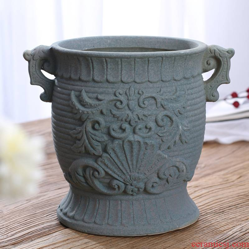 More meat plant flowerpot More than old running the banyan ceramics ceramic flower implement green asparagus orchid flower POTS dry flower vase