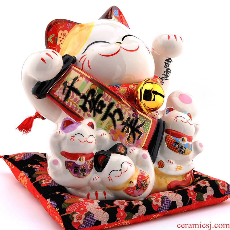 Stone workshop qian ke wan to lucky cat furnishing articles 10 inches large jar ceramic piggy bank opening to get I