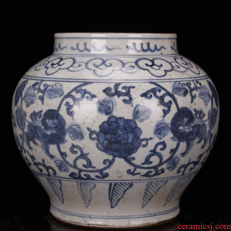 Jingdezhen antique reproduction antique collection old items hand - made porcelain branch can of Chinese style classical decoration furnishing articles