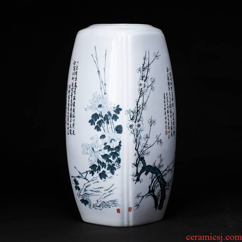 Jingdezhen ceramics rich ancient frame floret bottle of flower arranging dried flowers lucky bamboo Chinese style home sitting room adornment is placed