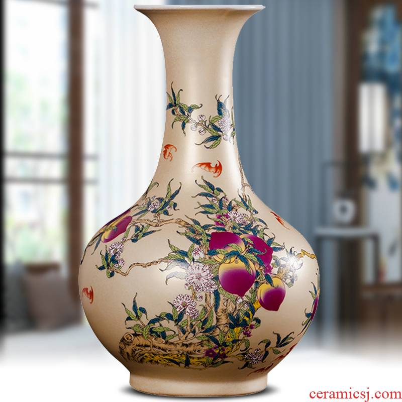Jingdezhen ceramics powder enamel household adornment handicraft modern study of Chinese style living room TV cabinet furnishing articles gifts