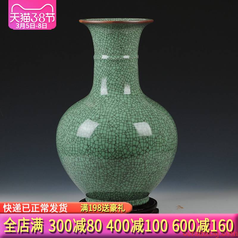 Archaize crack of jingdezhen ceramics glaze do old vases, flower implement Chinese sitting room adornment is placed large