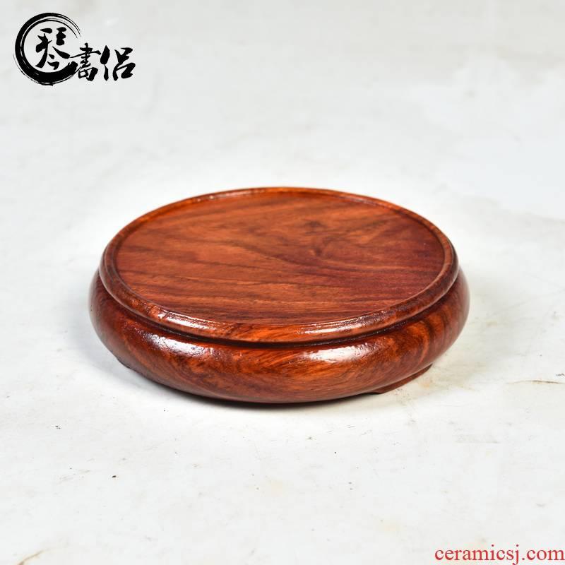 Substitutes rosewood mahogany base element circular base vase base it base cup tea base pad