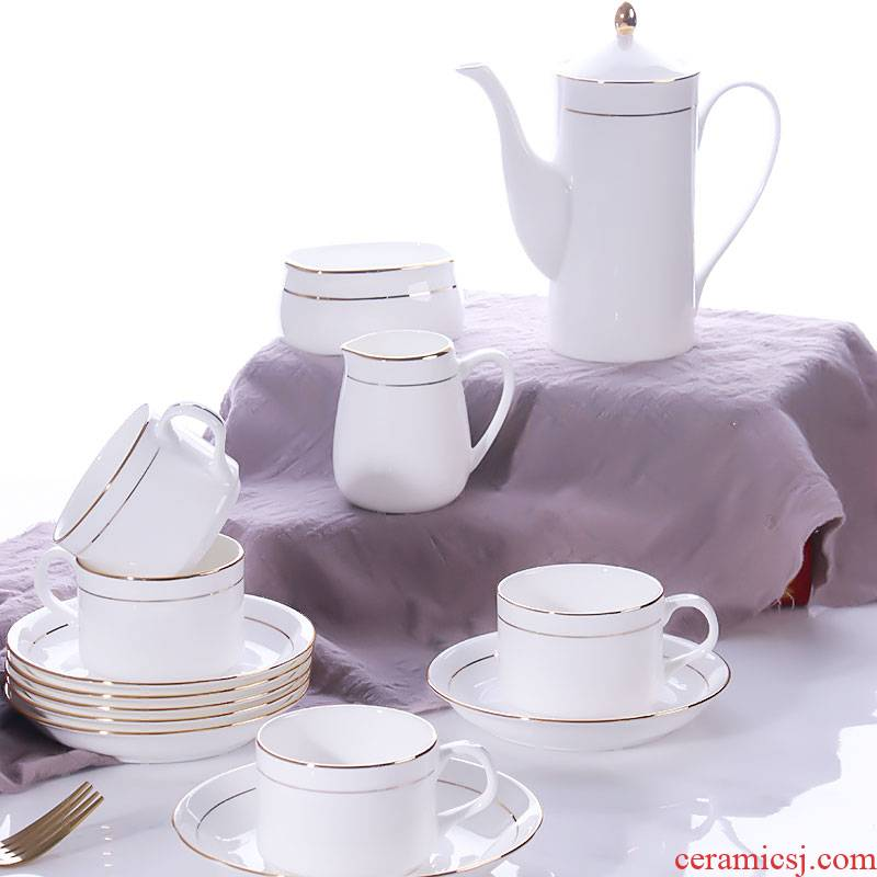JingTianGe up phnom penh appliance household small European - style key-2 luxury afternoon tea coffee cups and saucers ceramic suit coffee cup