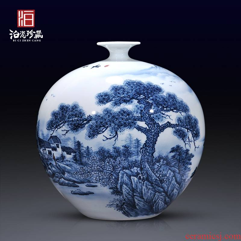 Jingdezhen ceramics hand - made dried flowers of blue and white porcelain vases, TV ark, new Chinese style sofa sitting room decorations furnishing articles