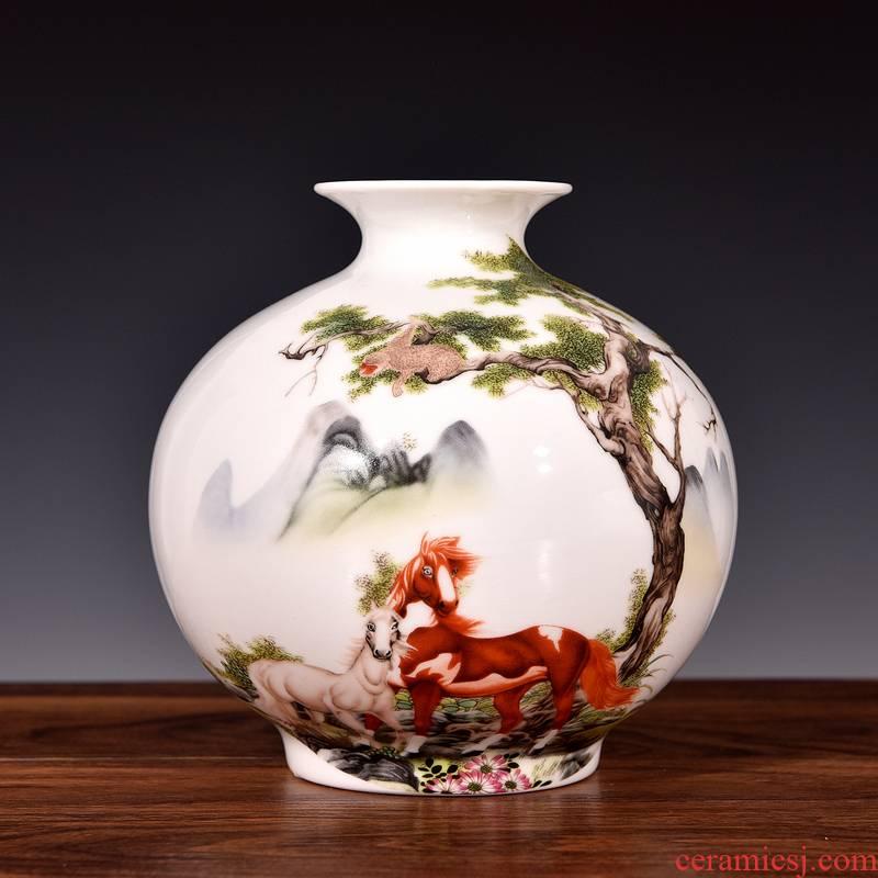Vase living room place flower arranging modern home wine ark, adornment small place jingdezhen ceramics process