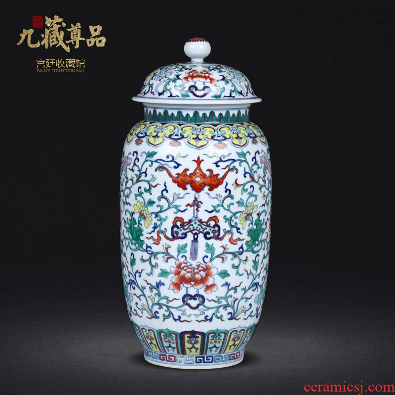 Antique hand - made porcelain of jingdezhen ceramics bucket color in a jar of the sitting room porch decoration of Chinese style household furnishing articles
