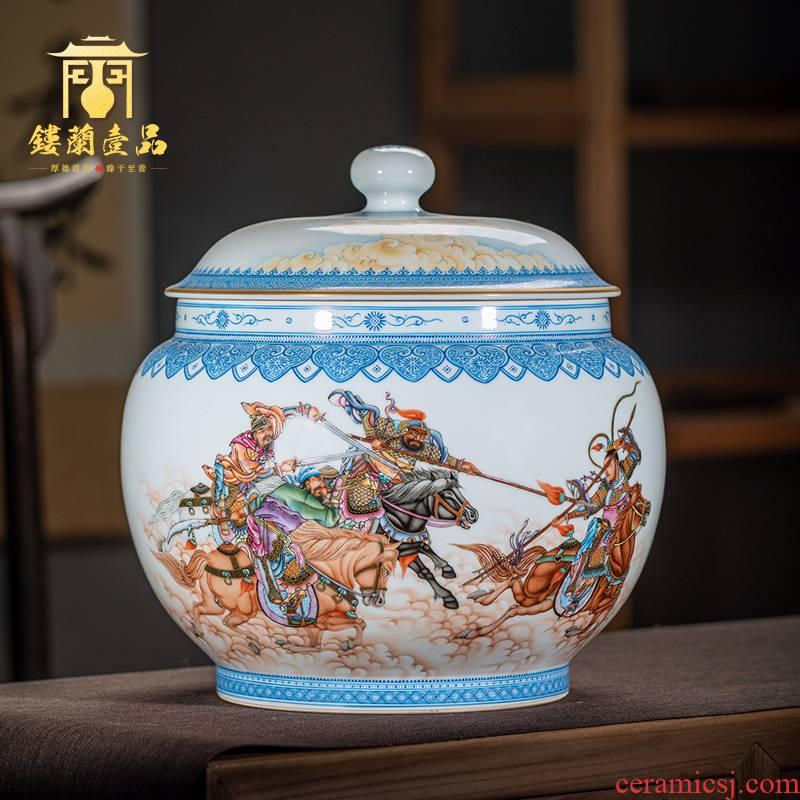 Jingdezhen ceramics hand - made all three British lyu3 bu4 cover tea pot Chinese style household adornment handicraft furnishing articles