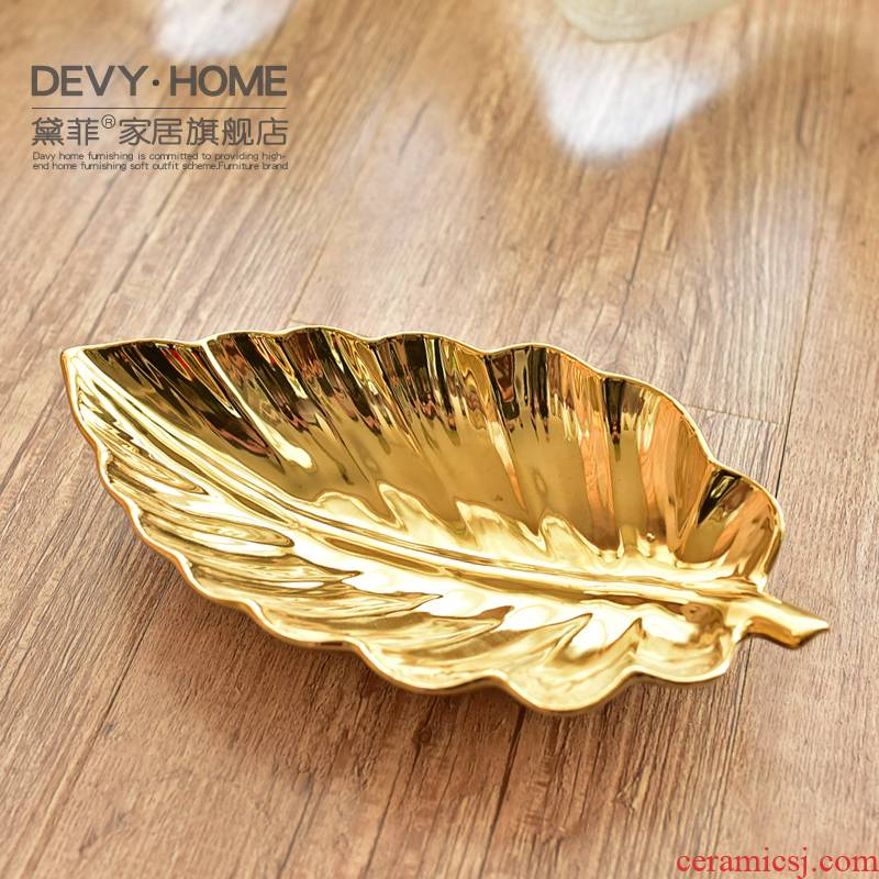 Light European - style key-2 luxury ceramic jewelry shelf modern simplicity porch key cosmetics desktop boxes