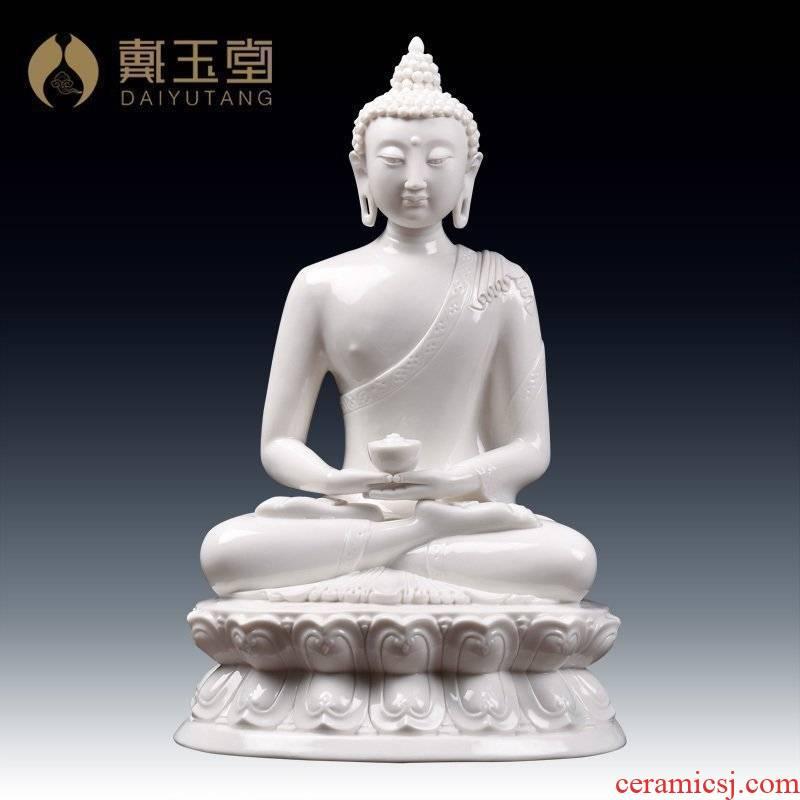 Yutang dai dehua porcelain its furnishing articles/ceramic arts and crafts of figure of Buddha amitabha white glaze D44-36 a