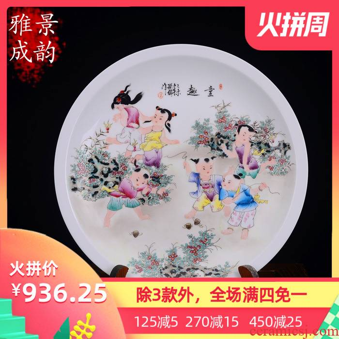 The Master of jingdezhen hand - made tong qu porcelain decoration painting furnishing articles household act the role ofing is tasted wine sitting room arts and crafts