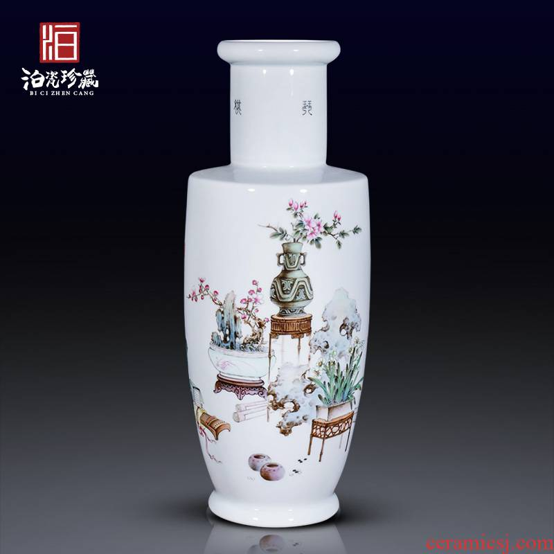 The Master of jingdezhen ceramics hand - made famille rose flower vase sitting room furniture collection of new Chinese style furnishing articles fall to the ground