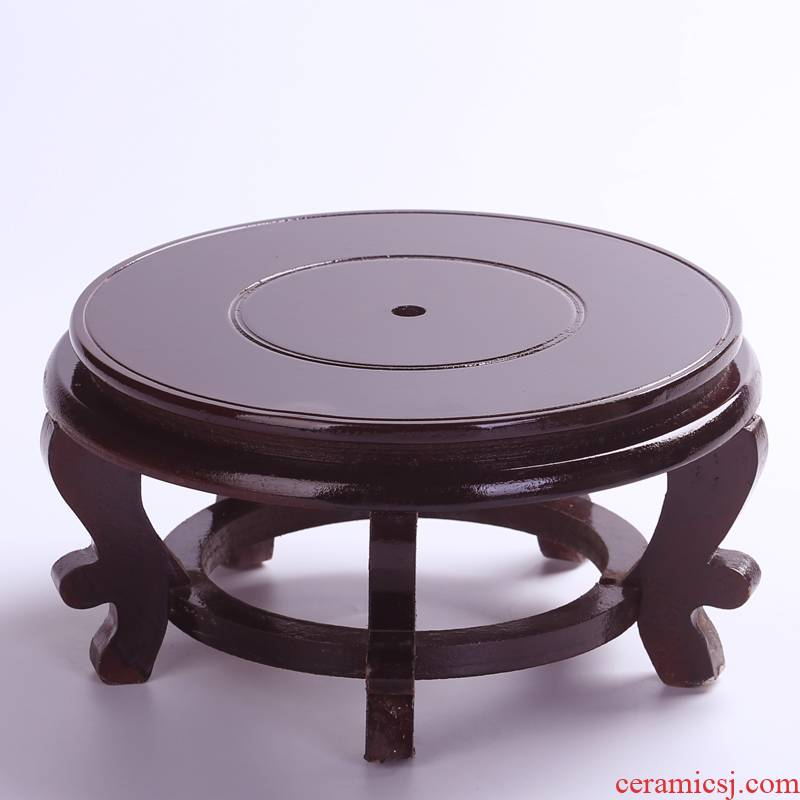 High base tank base decorative accessories High ground mat brackets tap disc wooden antique