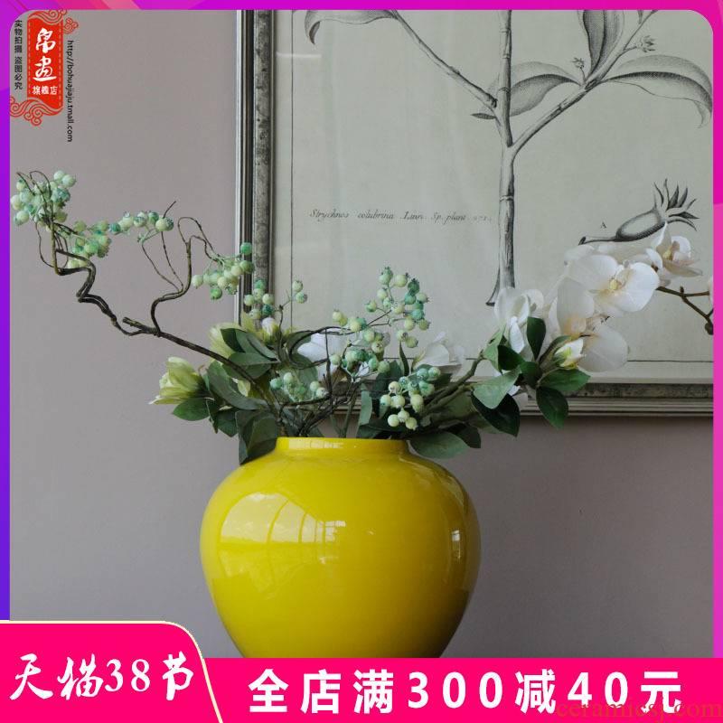 Jingdezhen ceramic vase furnishing articles of new Chinese style living room grain dry flower flower arranging flowers, TV ark, adornment household