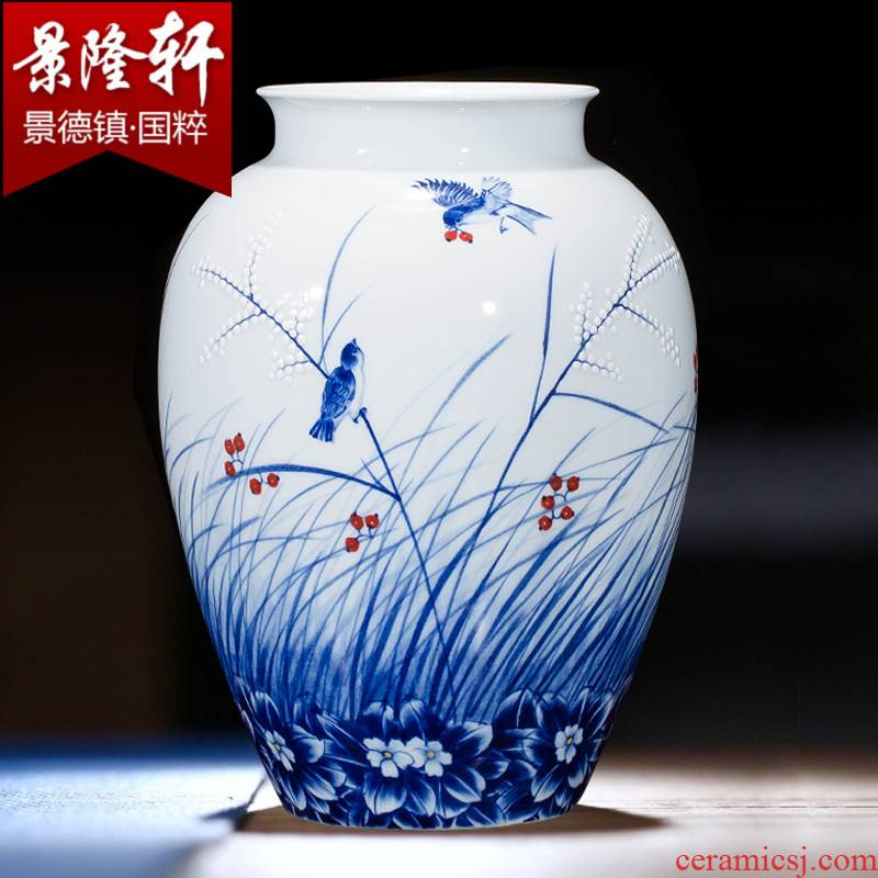 Jingdezhen ceramics hand - made vases, flower arrangement wine porch home decoration sitting room TV ark, furnishing articles