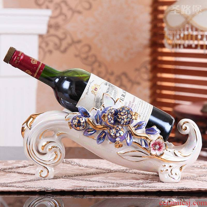 SAN road fort European wine ark, adornment move household act the role ofing is tasted creative ceramic wine rack furnishing articles European wine bottle tray