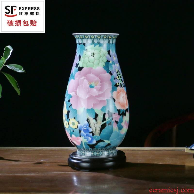 Porcelain good remit full vase under the glaze color living room desk wine cabinet mesa place business gifts liling Porcelain