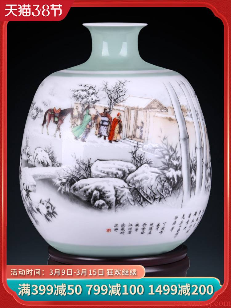 Jingdezhen ceramics flower adornment masters creation of three new sitting room of Chinese style household furnishing articles