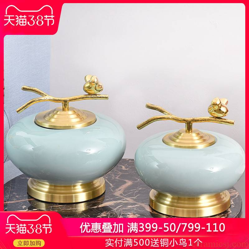 New Chinese style ceramic decoration light key-2 luxury furnishing articles sitting room book the reservation creative household act the role ofing is tasted the vase