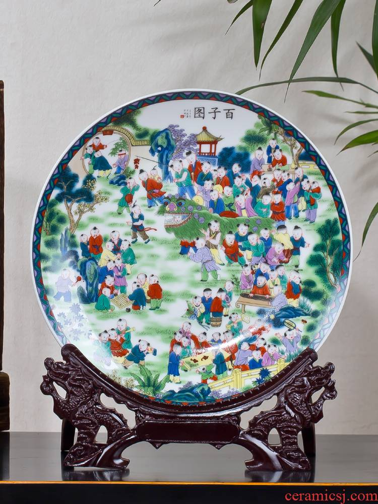 The ancient philosophers figure decoration plate hang dish modern household adornment handicraft furnishing articles furnishing articles of jingdezhen ceramics