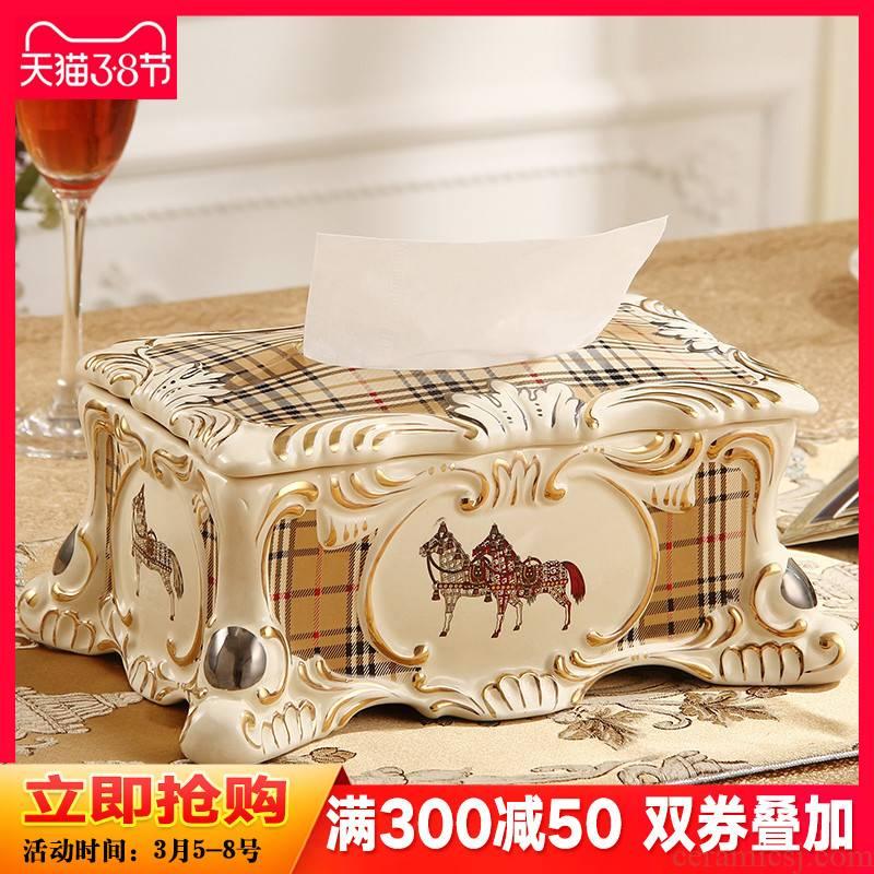 British creative tissue boxes sitting room adornment ceramic exhaust carton tea table top grade key-2 luxury home furnishing articles