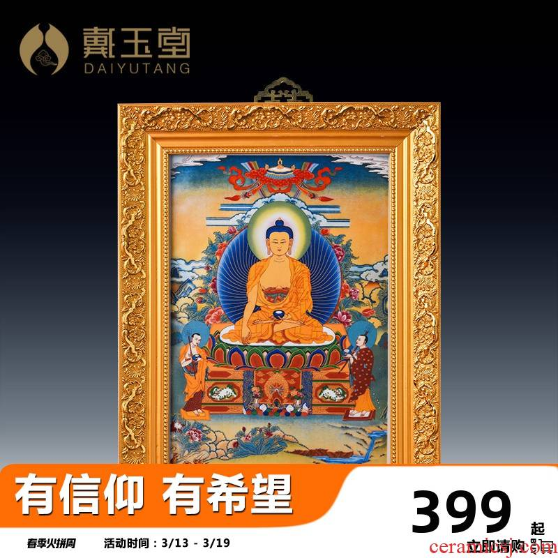 Yutang dai hang act the role ofing supplies buddhist temple consecrate Buddha/ceramic figure of Buddha shakyamuni Buddha D99 porcelain plate painting - 50 a