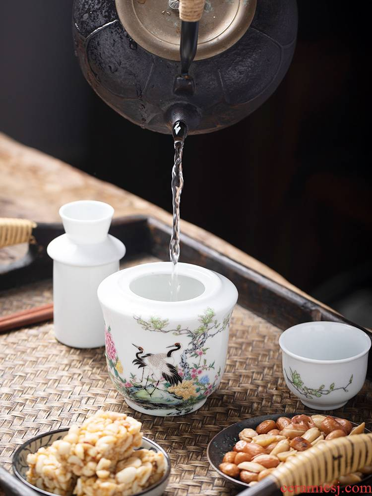 Wine temperature hot hip household Chinese jingdezhen ceramics Wine suits for liquor rice Wine liquor cup of hot temperature Wine pot