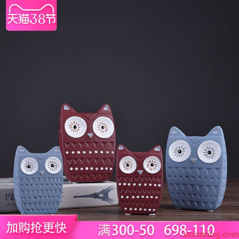 I and contracted move owl ceramic creative furnishing articles Nordic household act the role ofing is tasted, the sitting room adornment ark, gift