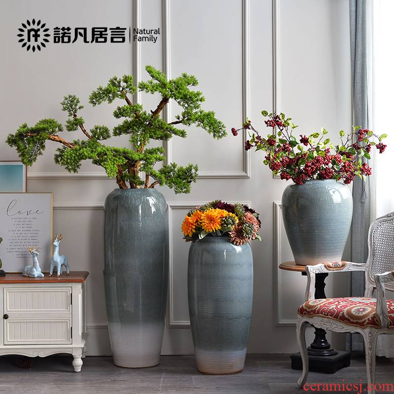 The Nordic sitting room of large vases, ceramic flower arranging furnishing articles contracted and I creative window dry flower decoration decoration