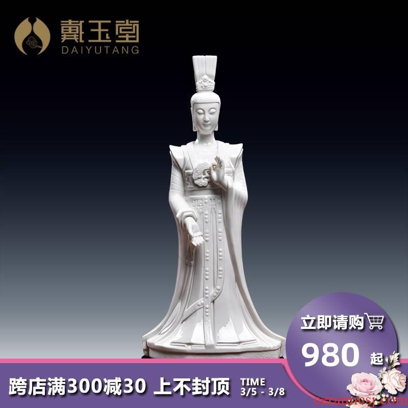 Yutang dai dehua ceramic consecrate Buddha handicraft furnishing articles/perhaps - 32 fujian goddess taimu empress