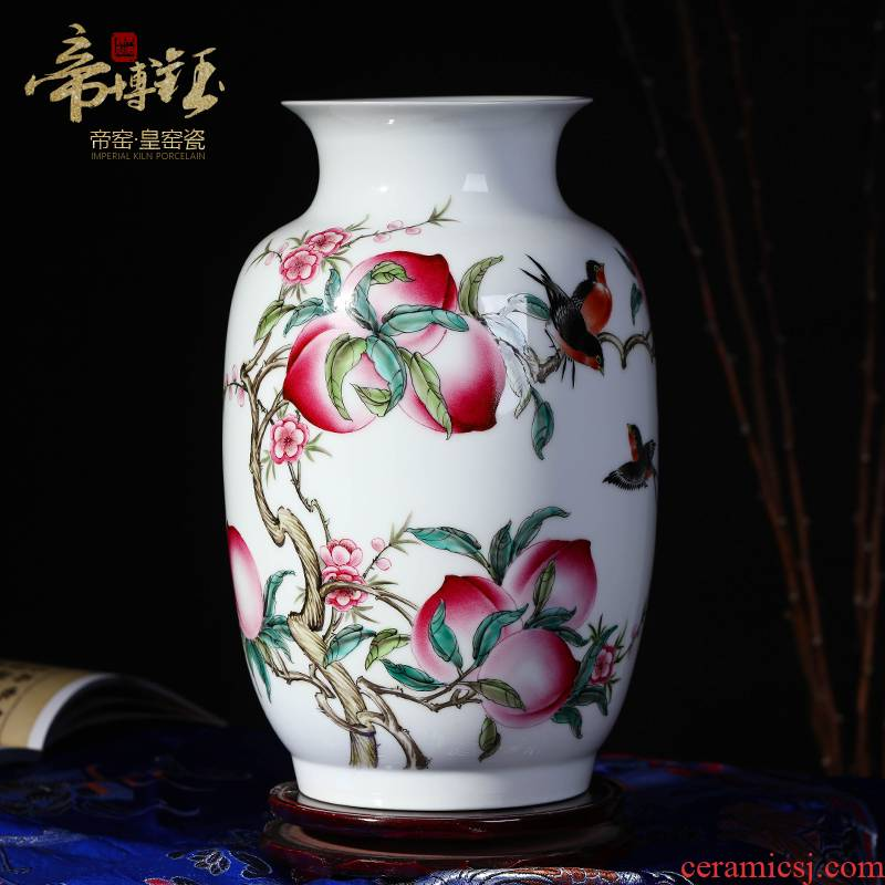Jingdezhen ceramics powder enamel live figure idea gourd vases master hand - made vases sitting room home handicraft furnishing articles