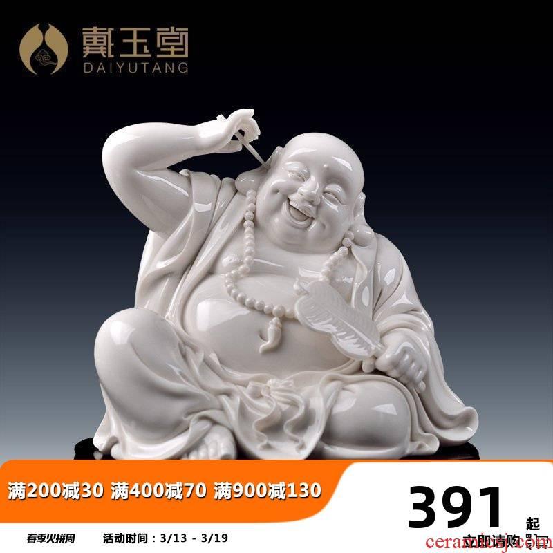Yutang dai dehua porcelain its art and heavily laughing Buddha statute honors that occupy the home furnishing articles you relaxedin maitreya