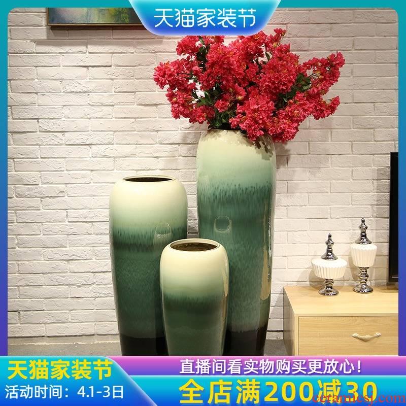 Jingdezhen sitting room of large vase wedding flower arranging the soft outfit decoration flower implement simulation ceramic flower furnishing articles