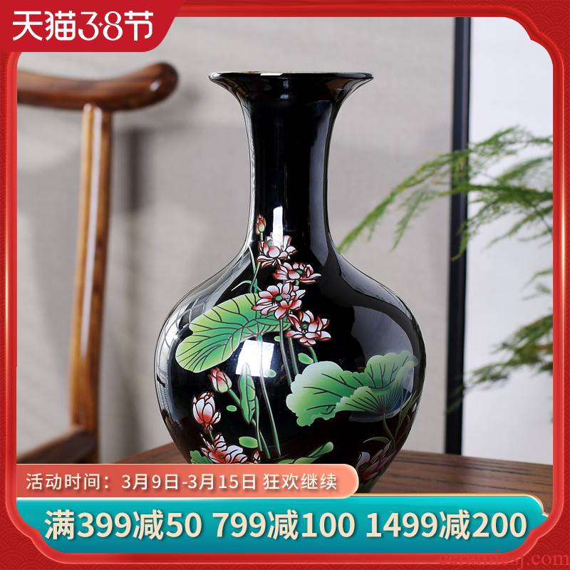Jingdezhen ceramics modern Chinese peony flower bottle of flower arranging home sitting room adornment handicraft furnishing articles
