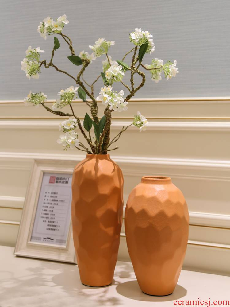 Jingdezhen dry flower vases, ceramic furnishing articles flower arranging Chinese I and contracted creative home sitting room adornment flowers
