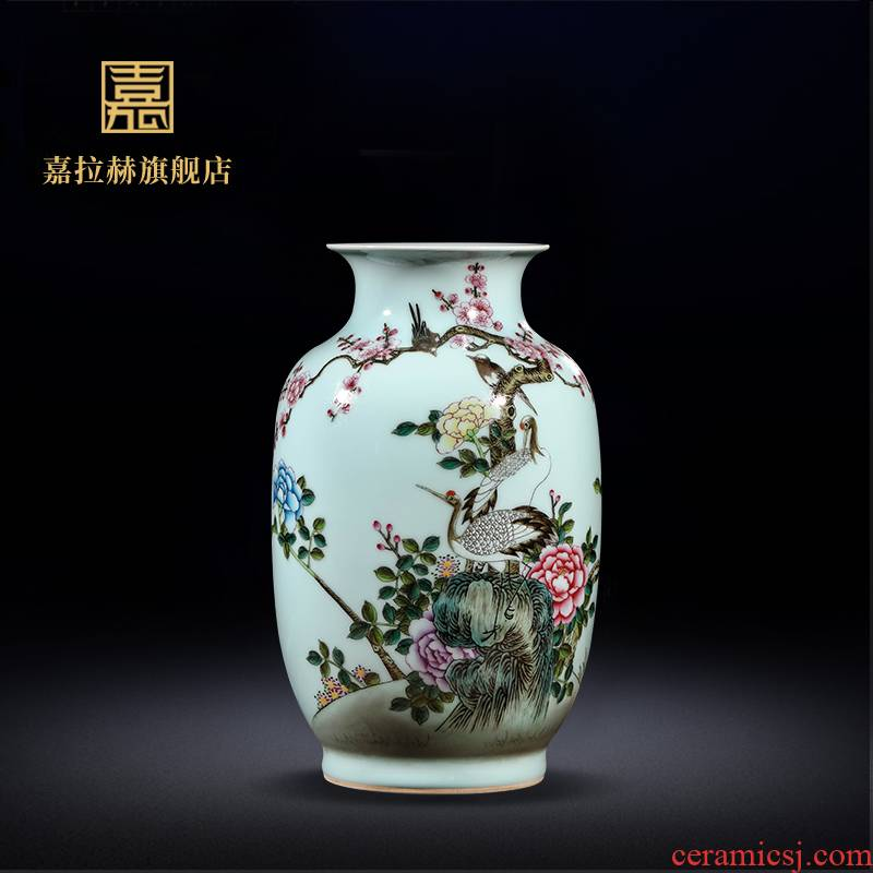 Jia lage jingdezhen manual archaize ceramic famille rose porcelain flower vase home sitting room porch decoration furnishing articles