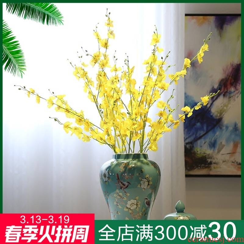 New Chinese style ceramic general mesa candy jar jar of vases, flower, flower implement the sitting room tea table decoration furnishing articles caddy fixings