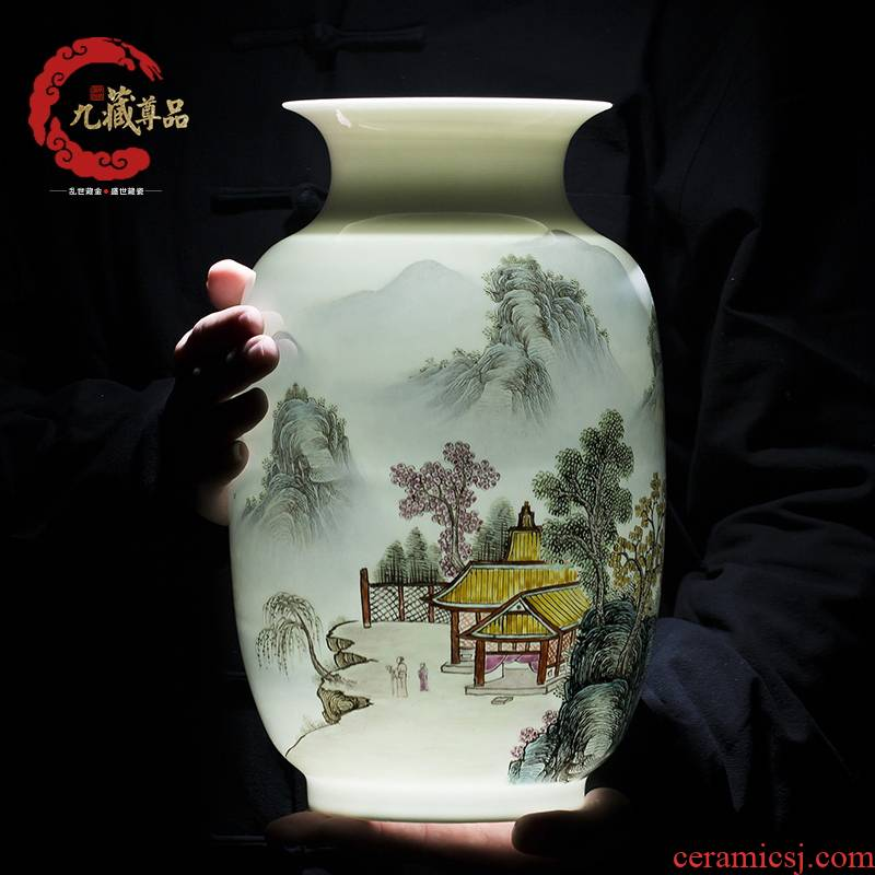 The Master of jingdezhen ceramics hand - made vases, study of new Chinese style household living room decoration decoration handicraft furnishing articles