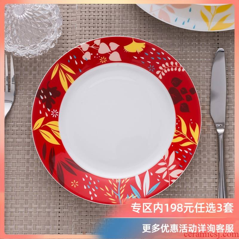 Ronda about ipads porcelain song of ordinary household type rainforest 7.5 inch flat 4 only fresh food dish cold dish dish
