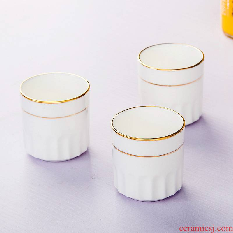Cup by hand paint hotel table matching cups of jingdezhen ceramic tableware pure white ipads China cups water