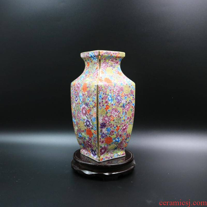 Archaize of jingdezhen porcelain flower square bottle the qing qianlong com.lowagie.text.paragraph antique home decoration antique antique old goods furnishing articles