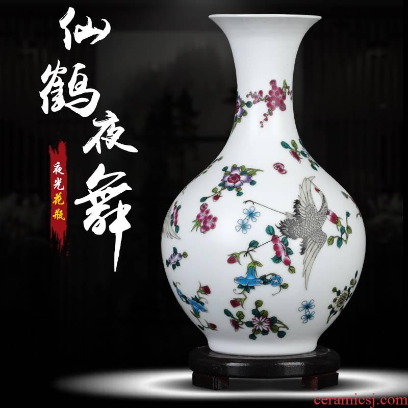 The Vase of jingdezhen ceramics glaze color ideas on frosted luminous porcelain home flower arrangement sitting room adornment is placed