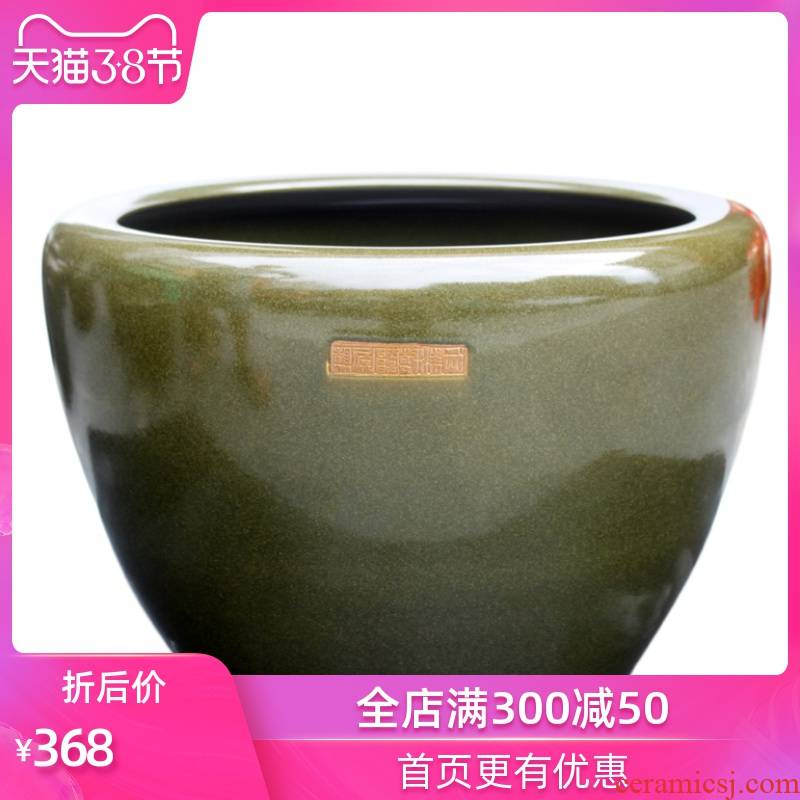 The Sequence is strong at the end of the tank is placed large tea glaze sitting room aquarium decoration fashion accessories company in stores