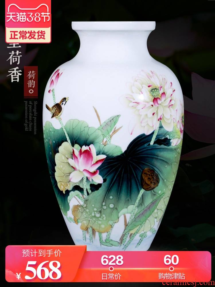 Jingdezhen ceramic furnishing articles hand - made vases, flower arranging new Chinese TV ark of I sitting room adornment handicraft furnishing articles