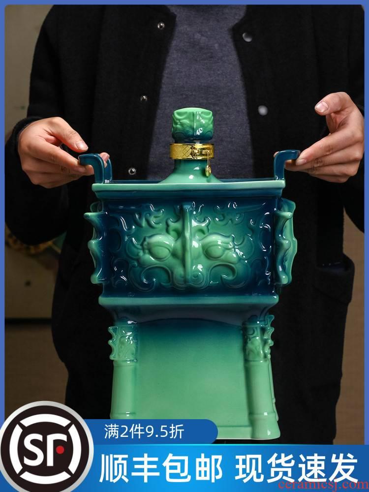 Enamel porcelain of jingdezhen ceramic bottle 10 jins to wine jar empty wine home it sealed up with hidden liquor jugs