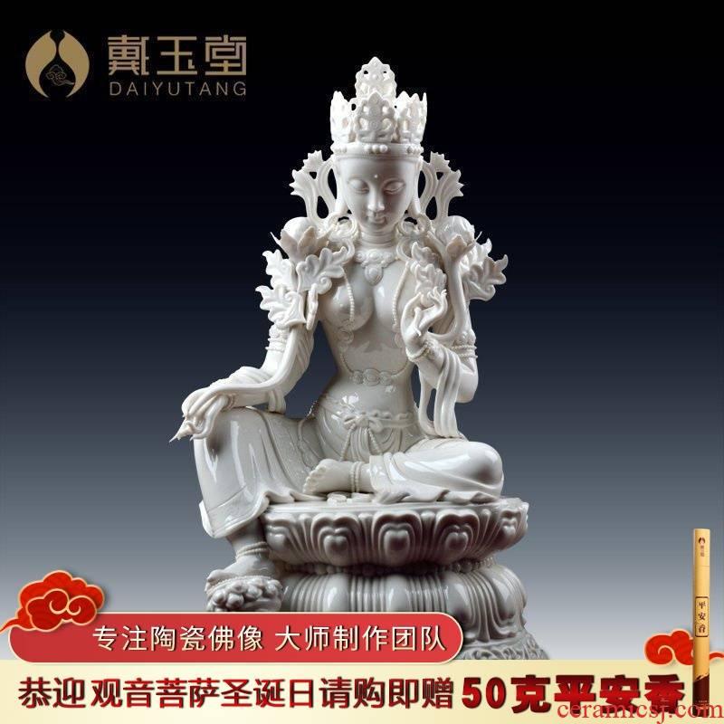 Yutang dai dehua ceramic Zheng Guoming tantric master its sect Buddha/green tara Luo Guanyin D41-35