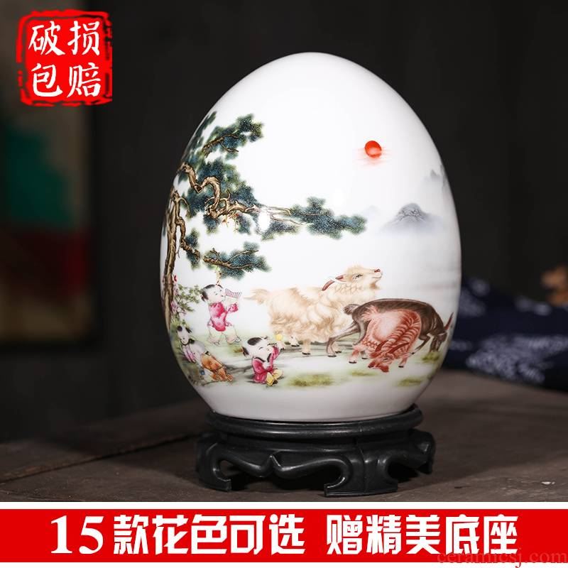Jingdezhen ceramic vase wine home decoration interior furnishing articles handicraft creative small ornament gift sitting room