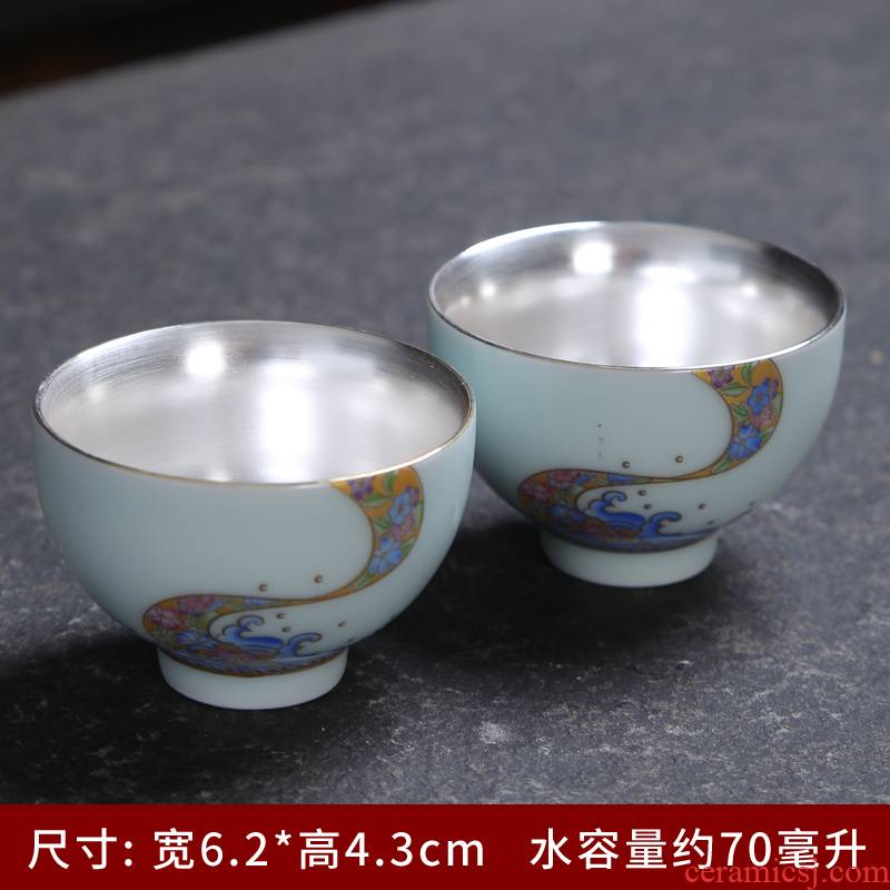 Celadon ceramic sample tea cup gold 24 k gold cup home of kung fu tea cups fragrance - smelling cup white porcelain cups